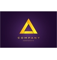 Alphabet letter A triangle logo icon design vector image