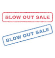 blow out sale textile stamps vector image