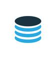 database colorful icon symbol premium quality vector image