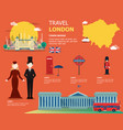 english map for traviling in london design vector image
