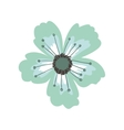 green petals of flower with pistils vector image