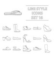 shoes set icons in outline style big collection vector image