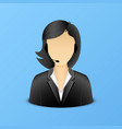 support woman assistant icon vector image