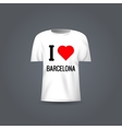 t-shirt template with design I Love vector image