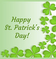 st patrick s day greeting card invitation vector image