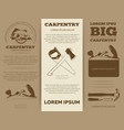 carpentry tools brochure vector image vector image