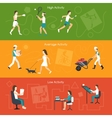 Physical Activity Banners vector image