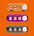 Halloween day with flap clocks and number counter vector image