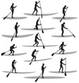 sup silhouettes vector image