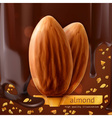 Almonds background vector image