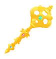 golden magic key vector image