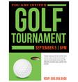 Golf tournament flyer invitation vector image