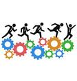 running on gears vector image