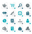stylized web site internet and computer icons vector image