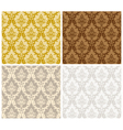 Damask Seamless Color Set vector image
