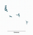 Doodle sketch of Comoros map vector image vector image