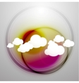 clouds technology design vector image