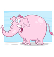 Little fat pink elephant vector image vector image