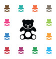 isolated plush icon cuddly element can be vector image