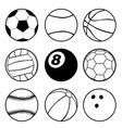 Sports Balls vector image vector image