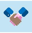 handshake flat design vector image