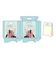 template bags for cosmetics vector image