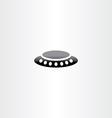 alien ufo icon vector image