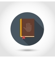 Bible flat icon vector image