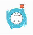 check point creative symbol concept flat thin vector image