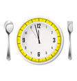 cutlery with measuring tape vector image