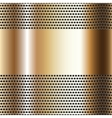 Golden background perforated sheet vector image vector image