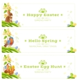 Happy Easter Spring nature banner set vector image