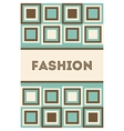 Invitation or card with fashion pattern vector image