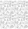 baby seamless pattern background set vector image