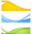 Abstract wavy banners vector image