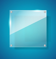Abstract gross shiny glass on blue background vector image