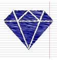 Diamond sign vector image
