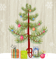Christmas Tree and Presents vector image vector image