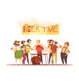beer time design concept vector image