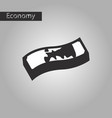 black and white style icon dirty money vector image