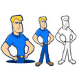 Blue Collar Character Set vector image