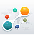 creative five steps infographics in circular vector image