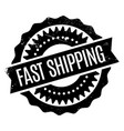 Fast shipping rubber stamp vector image