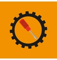 gear construction screwdriver tool vector image