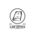 law office symbol with code vector image