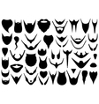 Set of different beards vector image