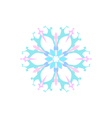 Snowflake Isolated Merry Christmas vector image