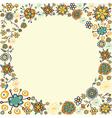 Spring vintage flower circle card background vector image