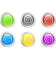 Swirl button vector image