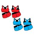 womens sport underwear Bra and shorts vector image